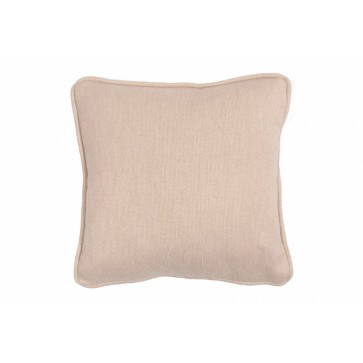 Square 12in. small scatter cushion in natural woven fabric