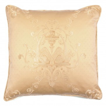 "Square 18"" scatter cushion in embroidered damask"