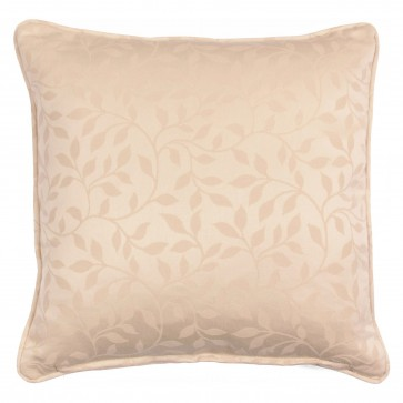 "Square 18"" scatter cushion in natural floral weave"