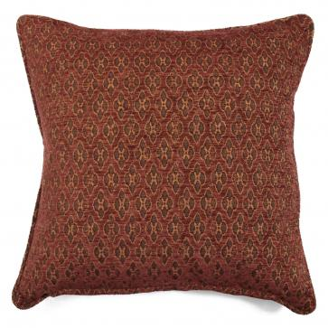 "Square 18"" scatter cushion in terracotta woven chenille"