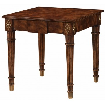 Square lamp table with reeded edge top