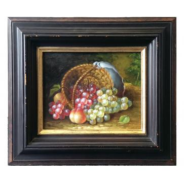 Still life of fruit oil on board