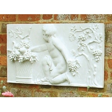 Stone wall plaque - Autumn