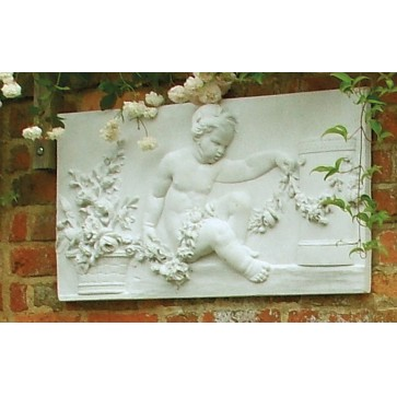 Stone wall plaque - Spring