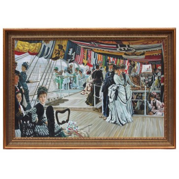 The Ball On Shipboard framed oil painting
