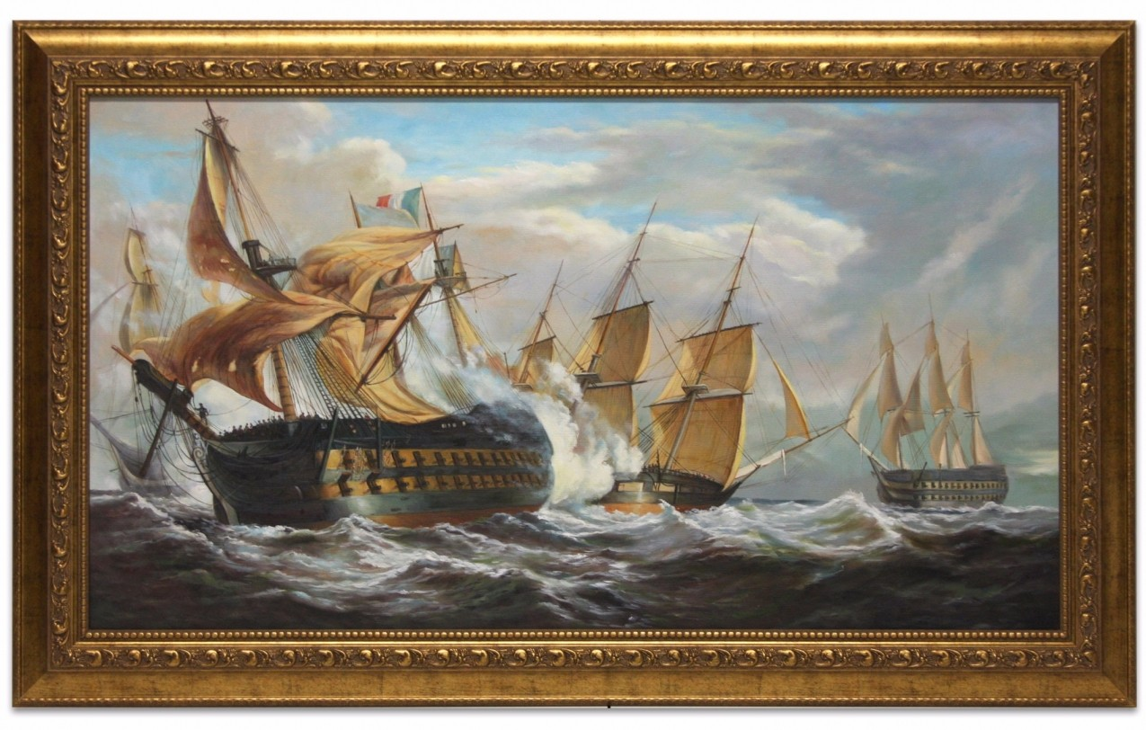 The Guillaume Tell in action with HMS Penelope