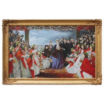 The Landing of HRH The Princess Alexandra oil painting