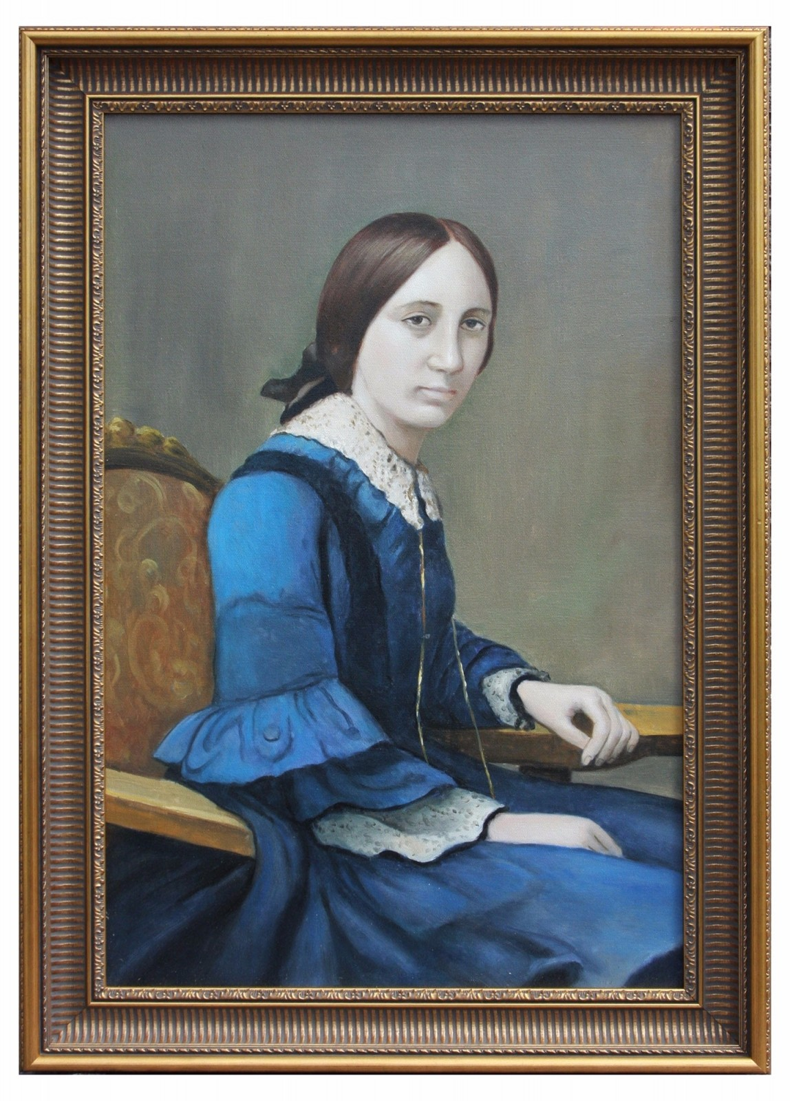 The only woman to win a Victoria Cross Framed Oil Painting