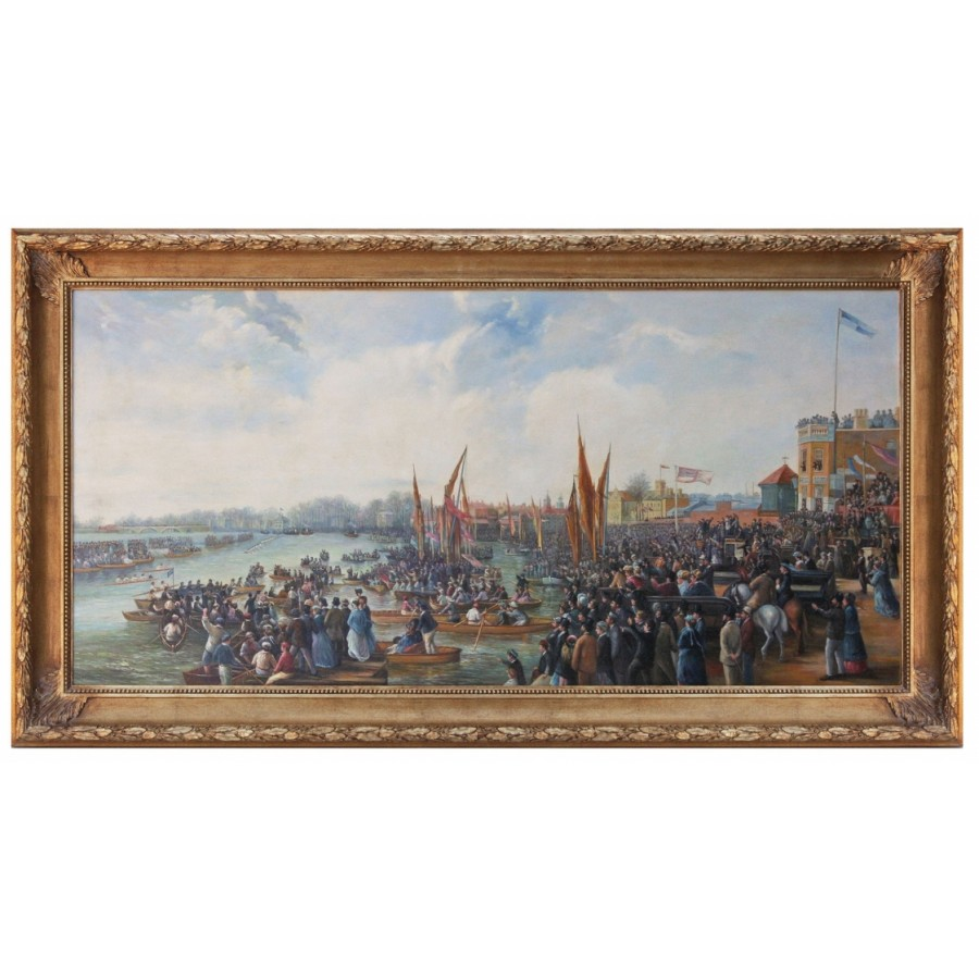 The Oxford and Cambridge Boat Race, oil Painting After JB Allan