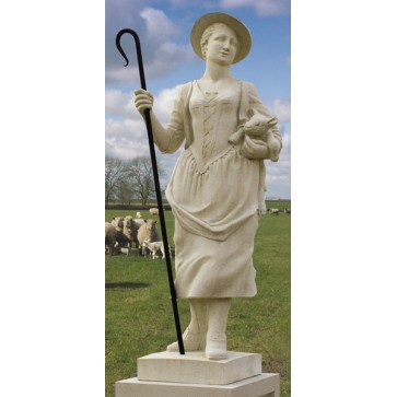 The Shepherdess stone statue