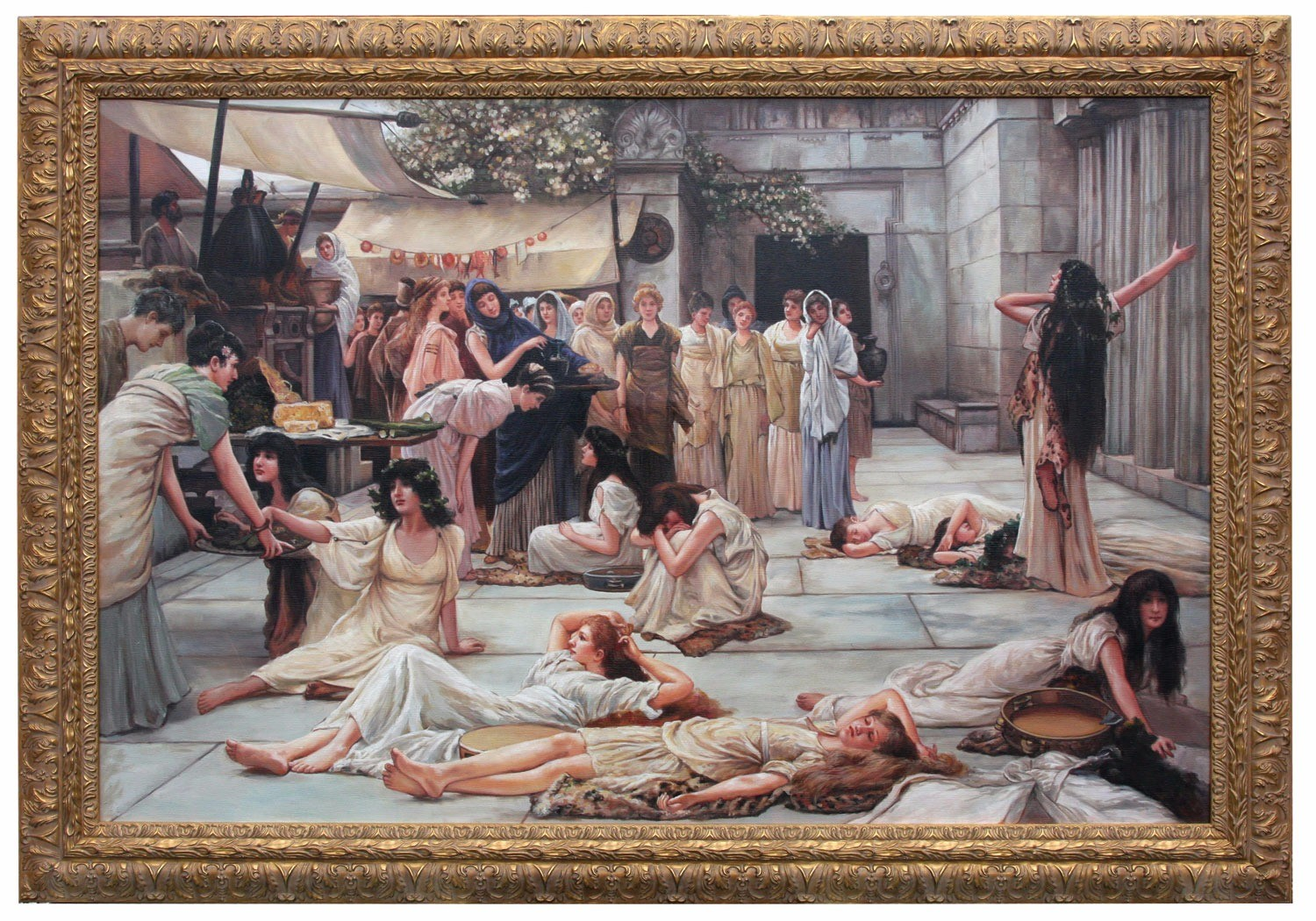 The Women Of Amphissa framed oil painting