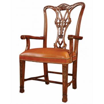 Thomas Chippendale style dining arm chair
