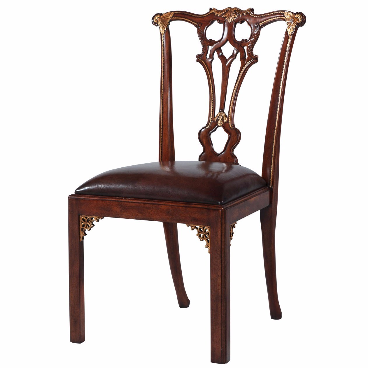 Chippendale Furniture: Thomas Chippendale Style Mahogany Dining Chair, Dining