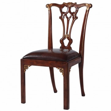 Thomas Chippendale style mahogany dining chair
