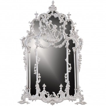 Thomas Johnson style mirror - Aged white finish