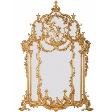 Thomas Johnson style water gilded mirror