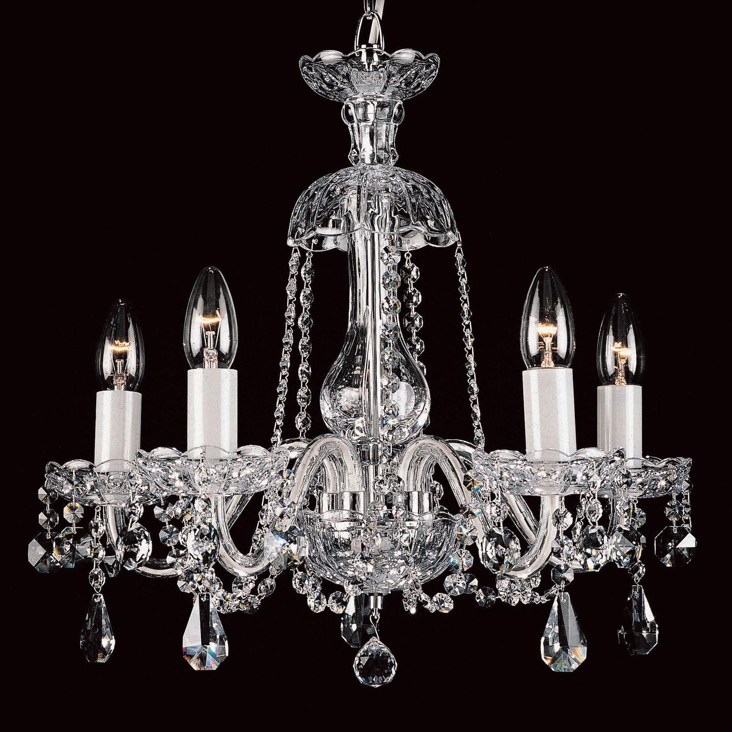 Three light crystal chandelier