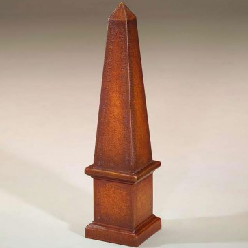 Tooled leather obelisk - 24in