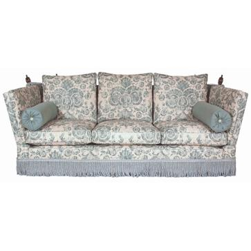 Tudor Knole drop arm sofa in Linwood Irving Caribbean