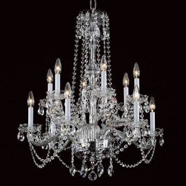 Twelve light crystal chandelier