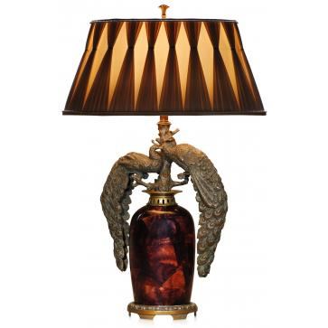 Verdigris brass mounted table lamp