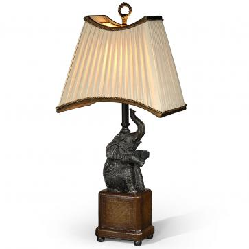 Verdigris brass table lamp