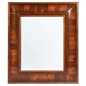 William and Mary style oyster parquetry veneered wall mirror