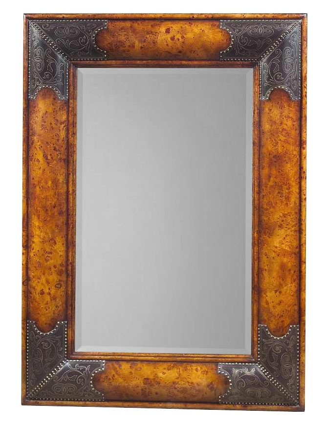 William and Mary style pollard burl wall mirror