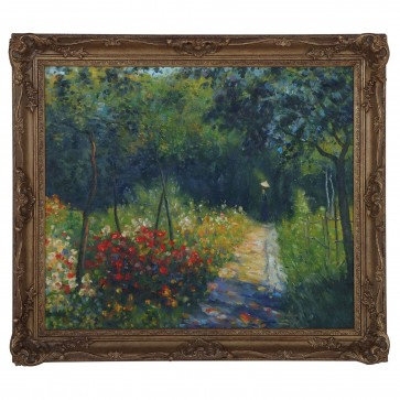 Woman at the Garden impressionist oil painting