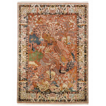 Yazd Paradise design silk pile carpet